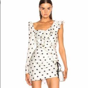 NWT. Self Portrait stars asymmetrical dress.